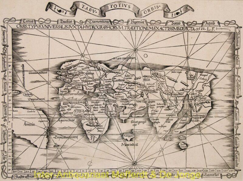 World antique map – Laurent Fries, 1535
