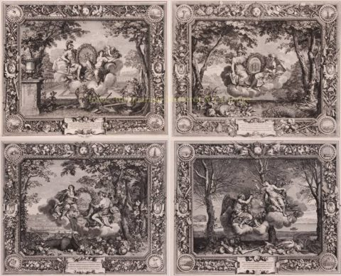 The four seasons – Sébastien Leclerc after Charles Le Brun, 1679