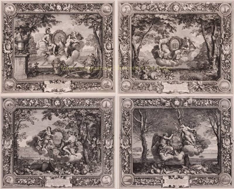 The four seasons – Sébastien Leclerc after Charles Le Brun, 1679