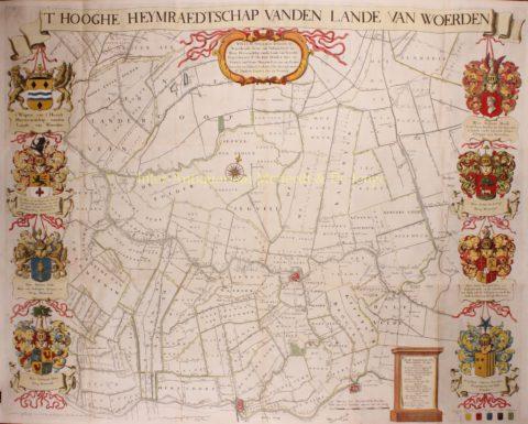 Hoogheemraadschap Woerden – Vingboons, De Wit, 1690