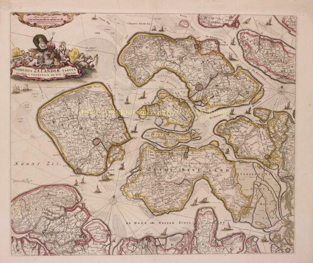 antique map of Zeeland