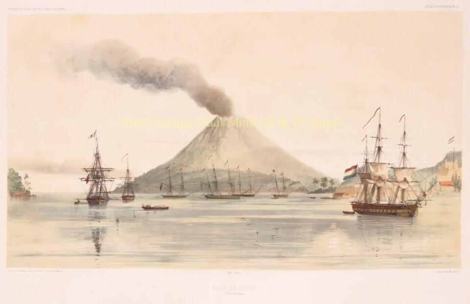 gezicht op de Banda eilanden (Molukken), 1846