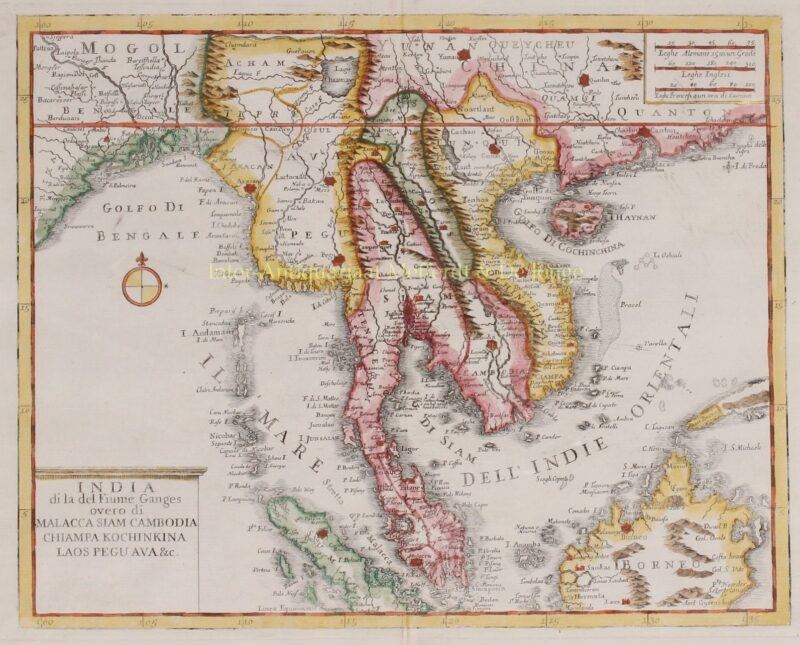 Southeast Asia, Indochina, Malay Peninsula – Giambattista Albrizzi, 1740-1762