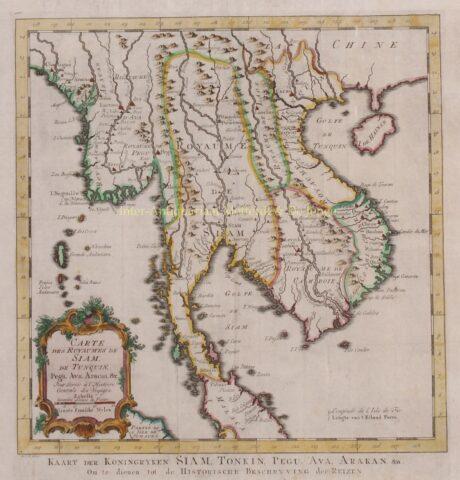 Southeast Asia, Myanmar, Thailand, Laos, Vietnam – Jan van der Schley, c. 1760