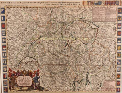 Switserland – Hubert Jaillot + Pieter Mortier, 1696-1708