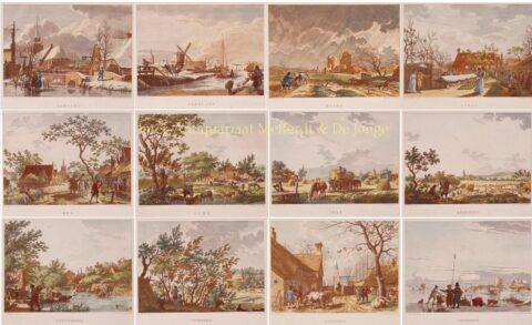 The Twelve Months – Izaak de Wit Jansz. after Jacob Cats, 1805-1807