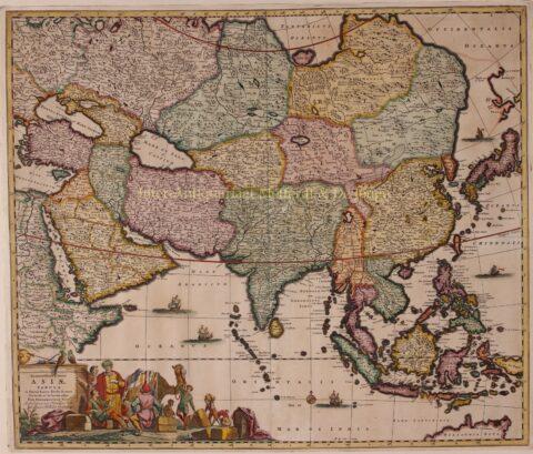 Asia – Frederick de Wit, ca. 1670