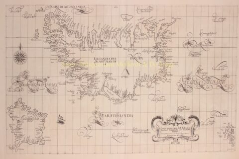 map of Iceland by Robert Dudley