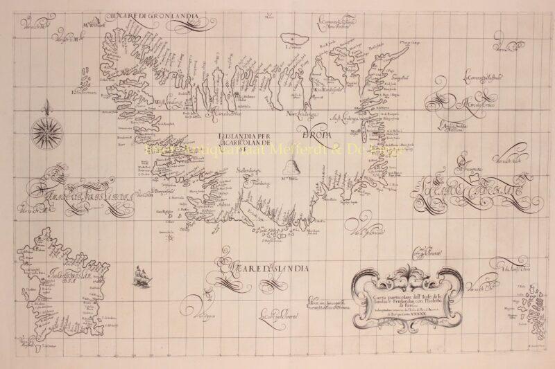 Iceland, Frisland, Faroe Islands – Robert Dudley, 1646-1647