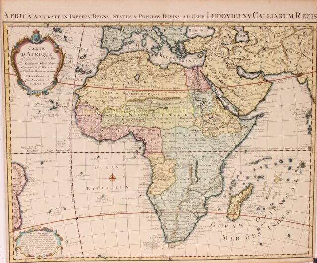 18e-eeuwse kaart van Afrika