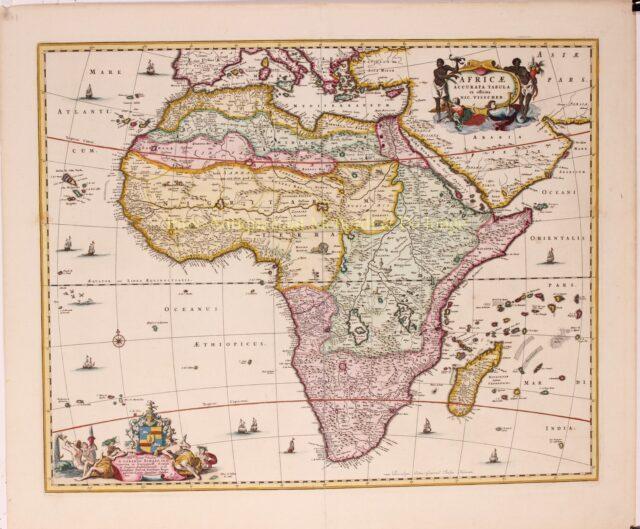 17e-eeuwse kaart van Afrika