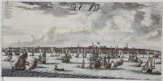 17e-eeuws gezicht op Amsterdam vanaf het IJ
