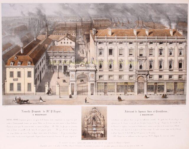 19e-eeuwse litho fabrieken Pierre Regout Maastricht