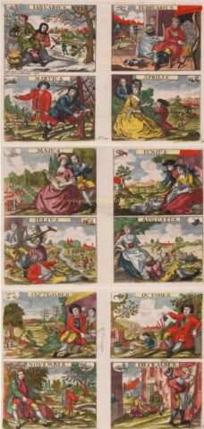 Twelve months – Johann Sebastian Müller, before 1744