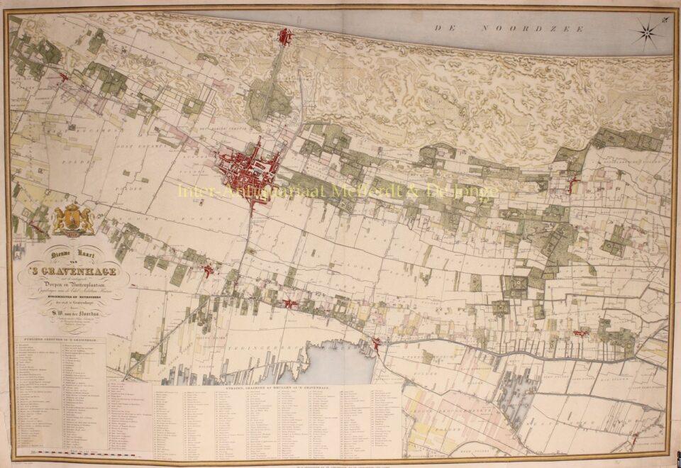 19e-eeuwse kaart van Wassenaar