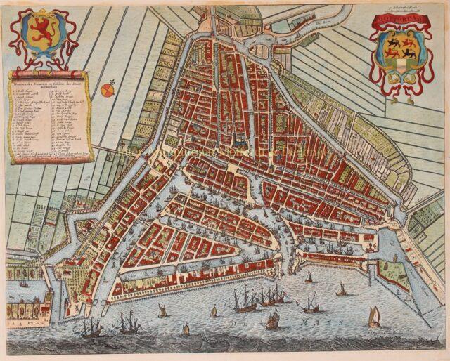 17e-eeuwse plattegrond van Rotterdam