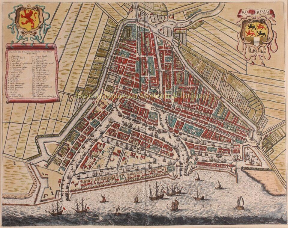 17e-eeuwse kaart van Rotterdam