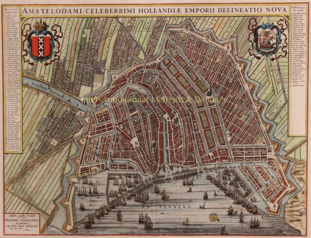 antieke plattegrond Amsterdam Joan Blaeu