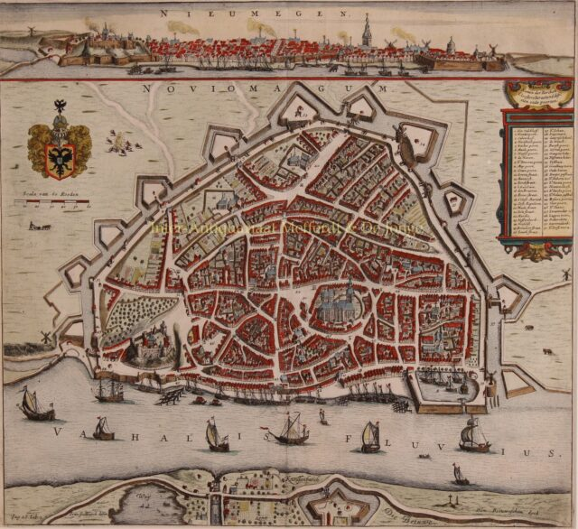17e-eeuwse kaart van Nijmegen