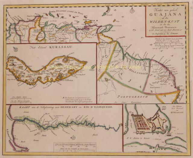 oude kaart Curaçao
