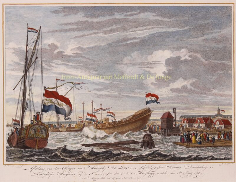 Launching VOC ship – Reinier Vinkeles, 1768
