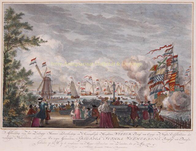 Zeilen op het IJ voor Amsterdam 1768
