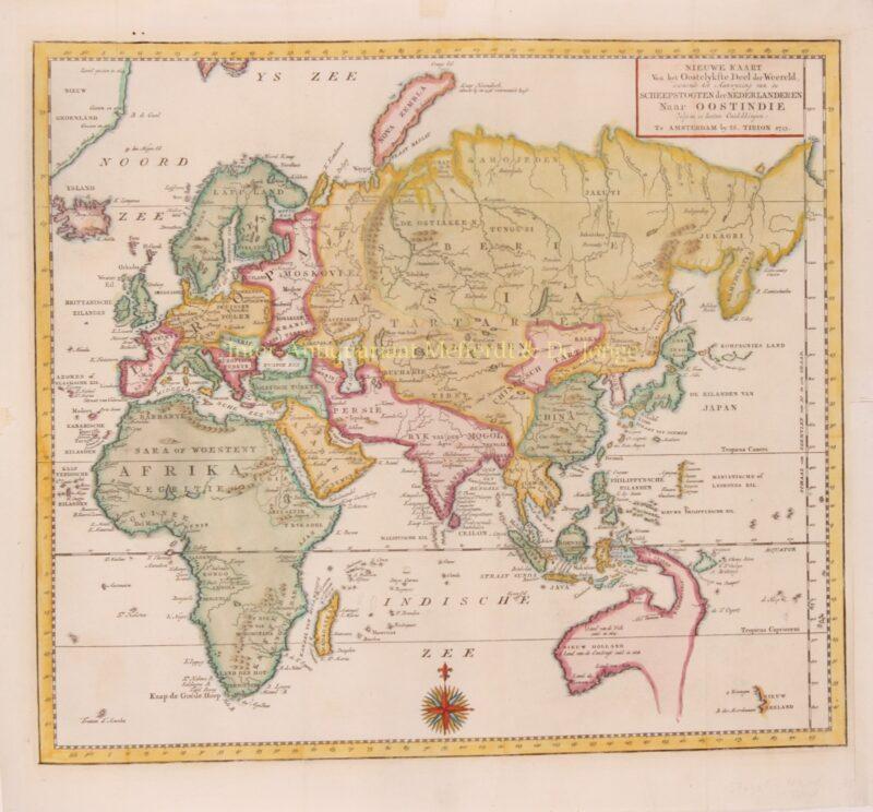 Eastern Hemisphere – Isaak Tirion, 1755