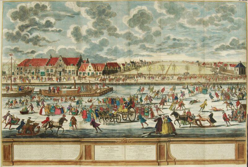 Amsterdam icebreaker, winter scene – Pieter Schenk, 1746