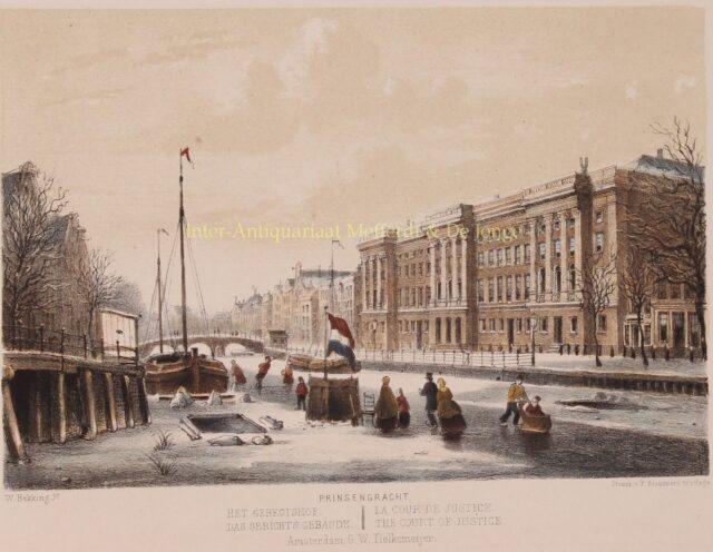 schaatsen op de Prisengracht 19e-eeuw