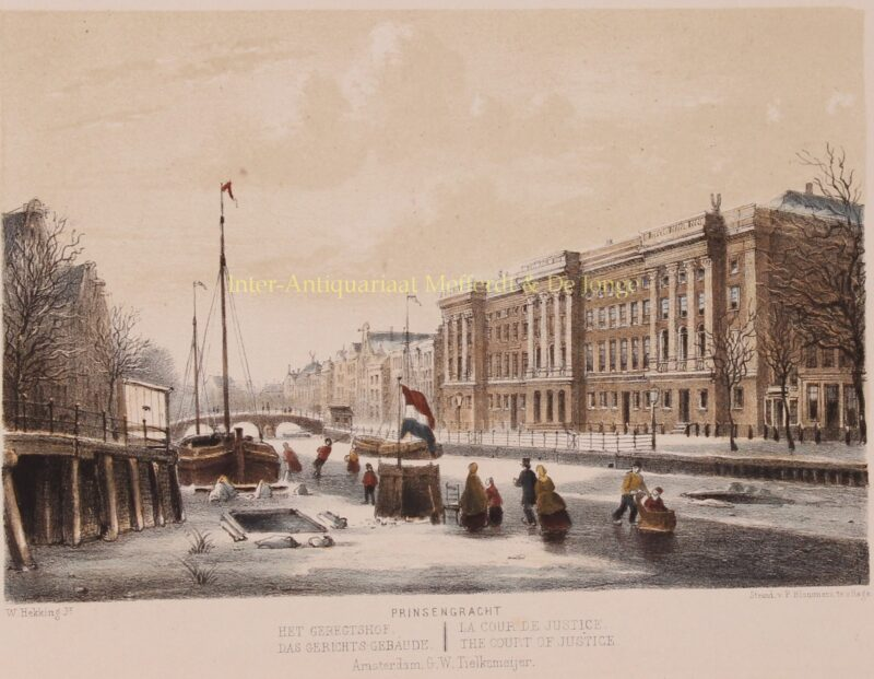 Amsterdam, Prinsengracht – P. Blommers after Willem Hekking jr., 1869