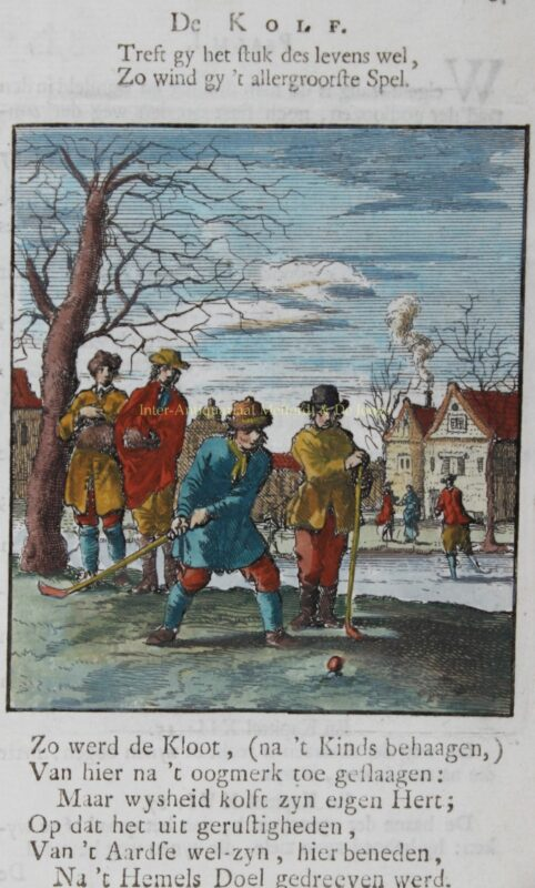 Colf players – Jan Luyken, 1712