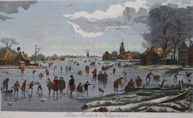 Dutch ice skating scene – after Aert van der Neer, eind 18de-eeuw