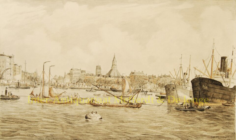 Havengezicht Rotterdam - Eugène Rensburg