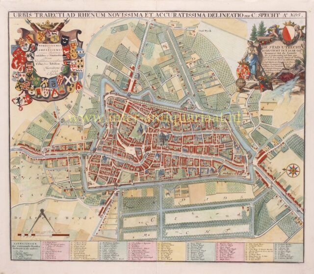 old map of Utrecht 18th century