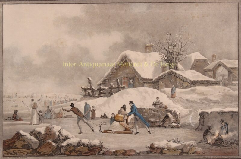 Winterlandscape – Philibert-Louis Debucourt, c. 1800