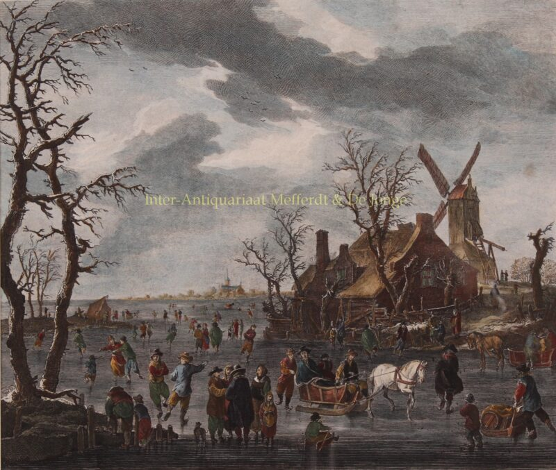Dutch winter scene – Carl Conti after Franz de Paula Ferg, 1786-1795