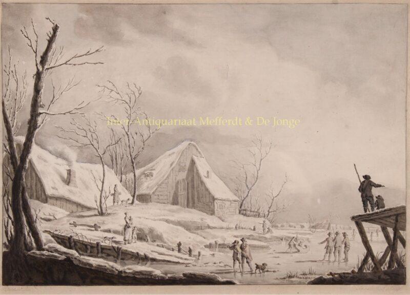 Winter landscape – John Atkinson after Jean Pillement, 1776