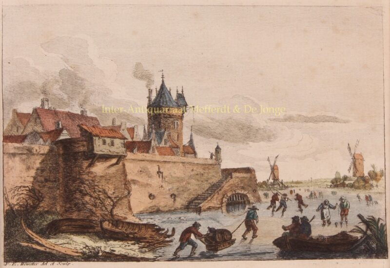 Winter landscape – Franz Edmund Weirotter, 1760-1775