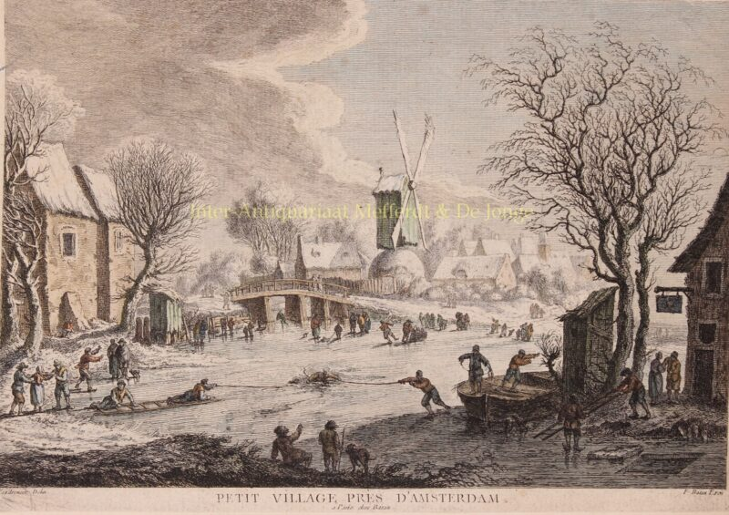Dutch winter – Francois Basan after Aert van der Neer, c. 1775