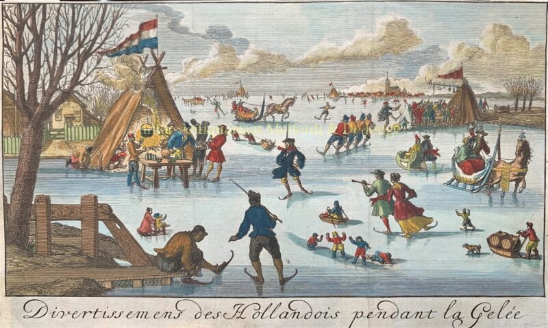 Winter amusements of the Dutch on the ice – Jan Nicolas de Parival, 1697