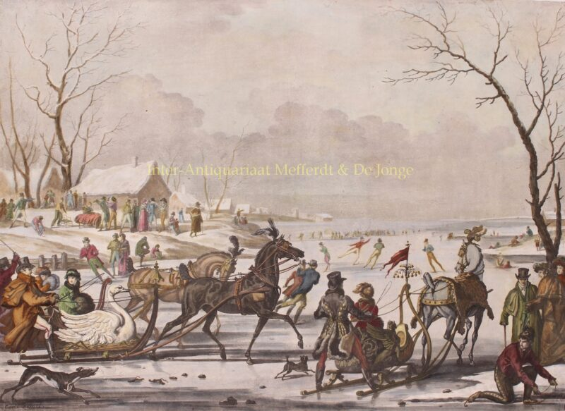 Sleigh racing – Antoine-Jean Gros after Carle Vernet, 1811