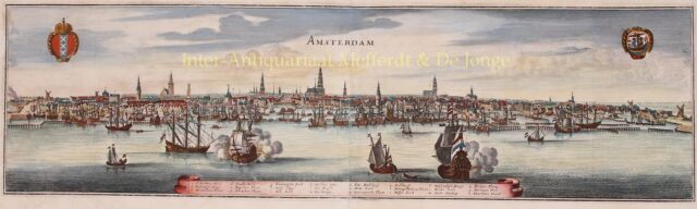 17e-eeuws profiel van Amsterdam