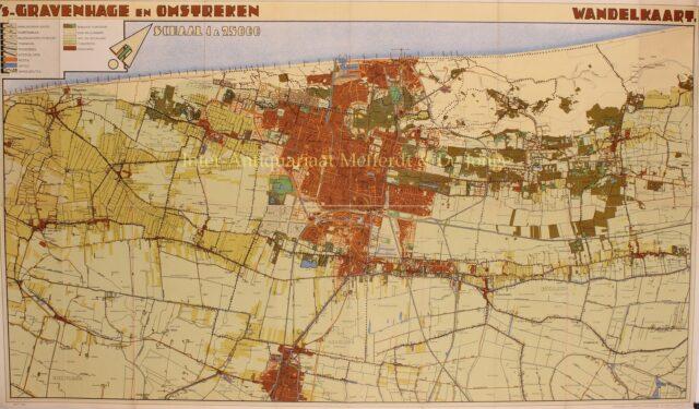 kaart van Den Haag en omgeving 1932