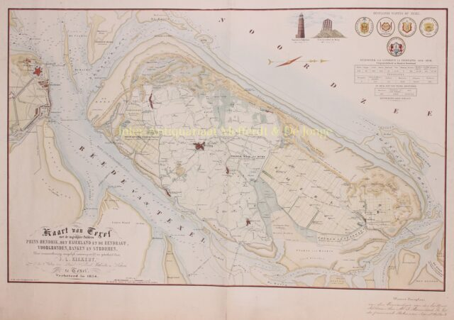 19e-eeuwse kaart van Texel