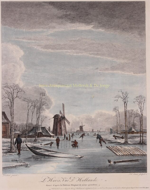 Dutch winter landscape – after Hendrik Jacobsz Dubbels, 1755