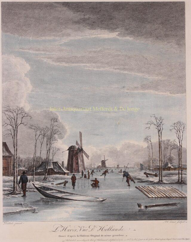 17e-eeuws winterlandschap