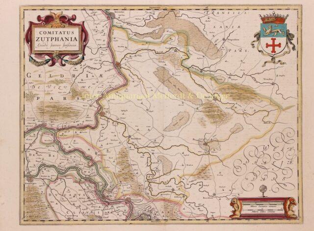 oude kaart van de Achterhoek