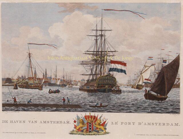 De Haven van Amsterdam eind 18e-eeuw