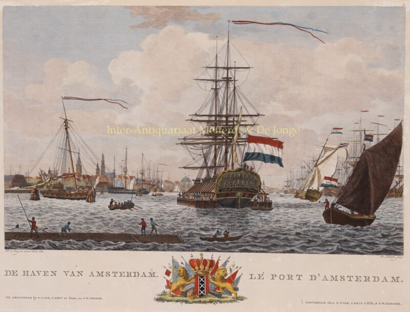 Amsterdam, harbour – Matthias de Sallieth after Dirk de Jong,1780