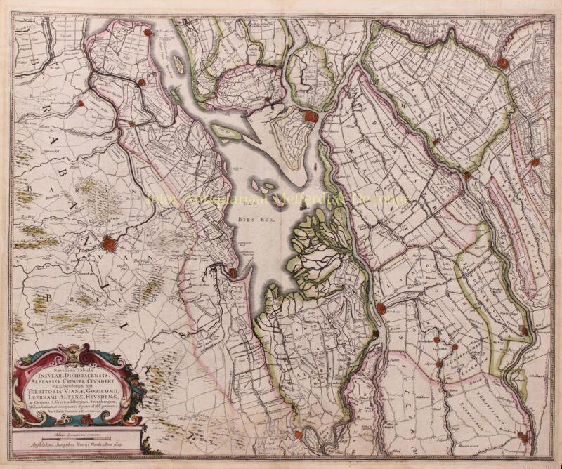 South-Holland, Brabant, Biesbosch – Henricus Hondius, 1629